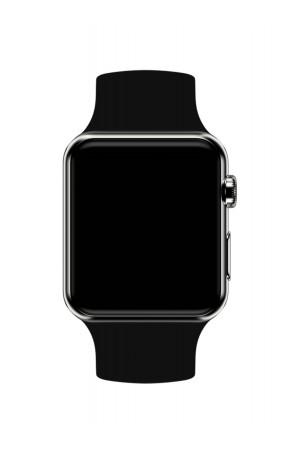 Силиконовый ремешок для Apple Watch 3 38 мм, черный