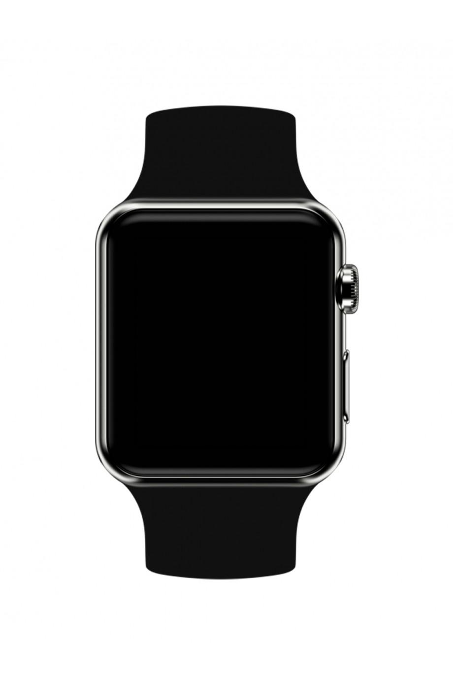 Силиконовый ремешок для Apple Watch 4/5 40 мм, черный