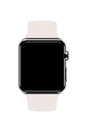 Силиконовый ремешок для Apple Watch 3 42 мм, слоновая кость