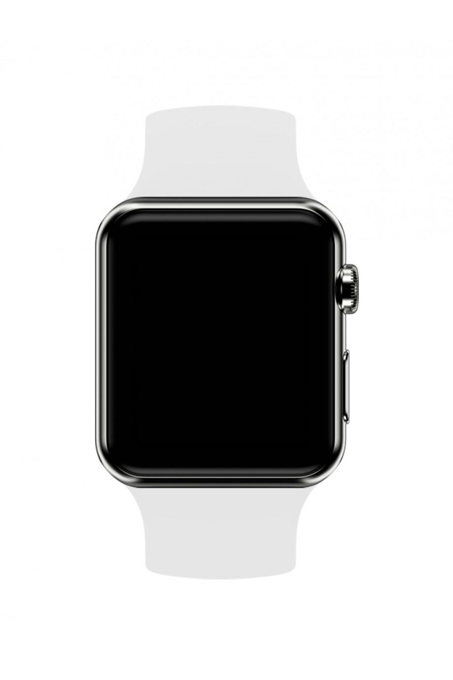 Силиконовый ремешок для Apple Watch 4/5 40 мм, белый