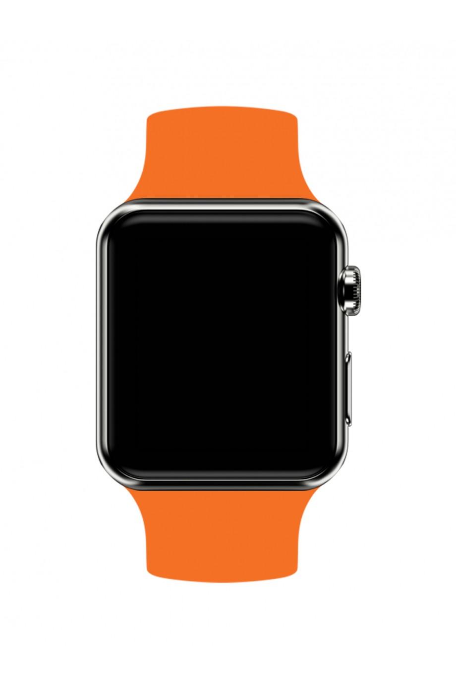 Силиконовый ремешок для Apple Watch 4/5 40 мм, оранжевый