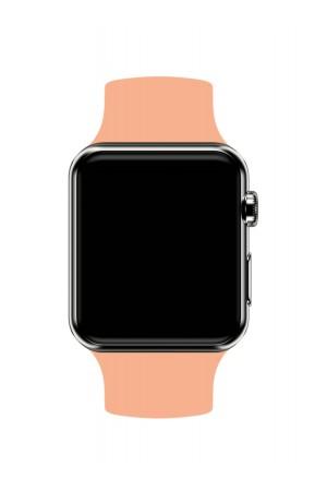 Силиконовый ремешок для Apple Watch 4/5 40 мм, персиковый