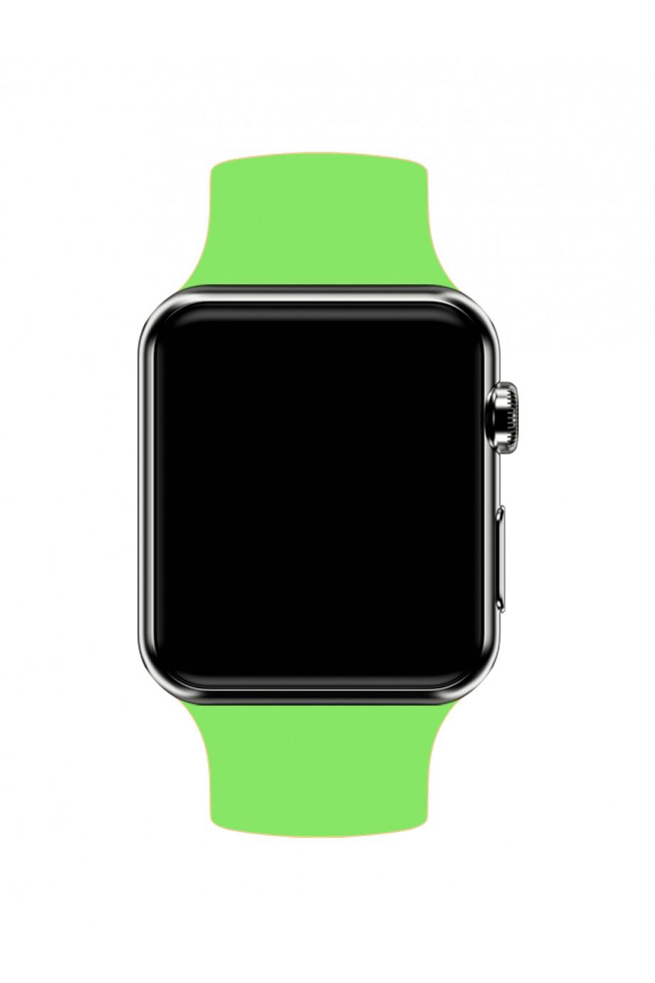 Силиконовый ремешок для Apple Watch 4/5 44 мм, салатовый