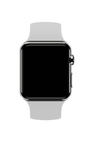 Силиконовый ремешок для Apple Watch 3 38 мм, серый