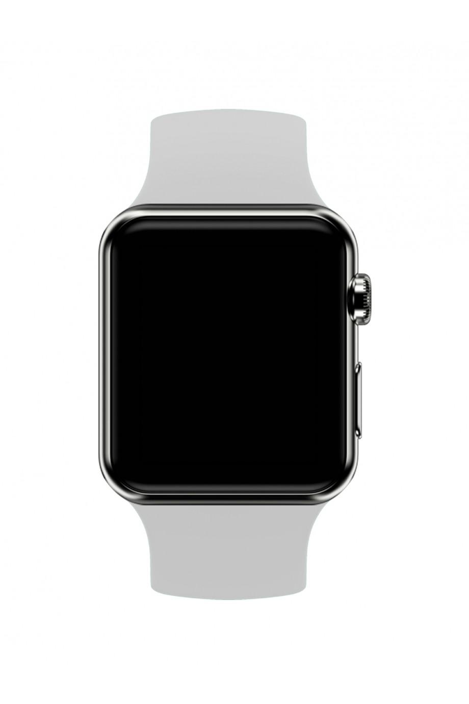 Силиконовый ремешок для Apple Watch 4/5 44 мм, серый