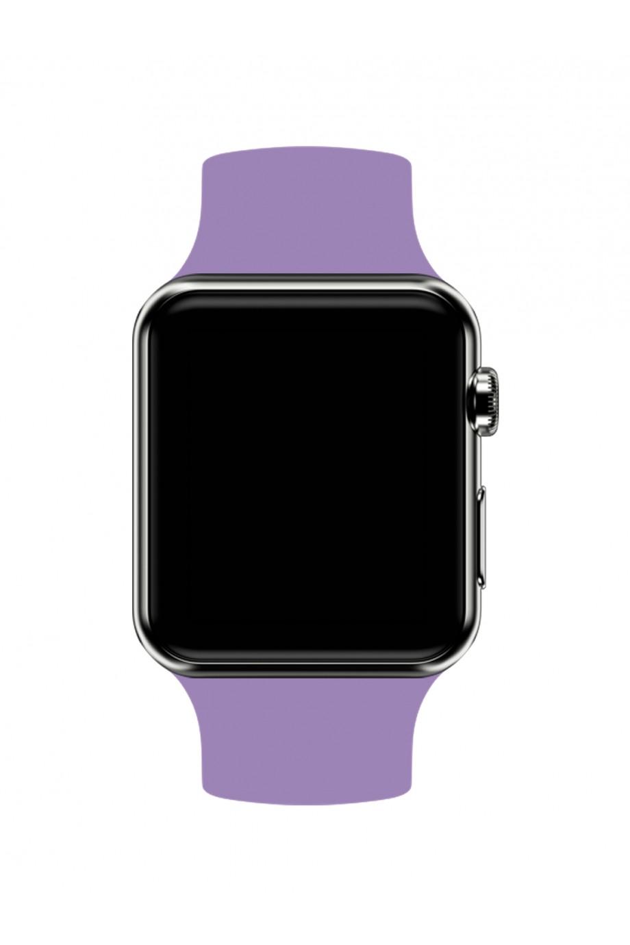 Силиконовый ремешок для Apple Watch 4/5 44 мм, сиреневый
