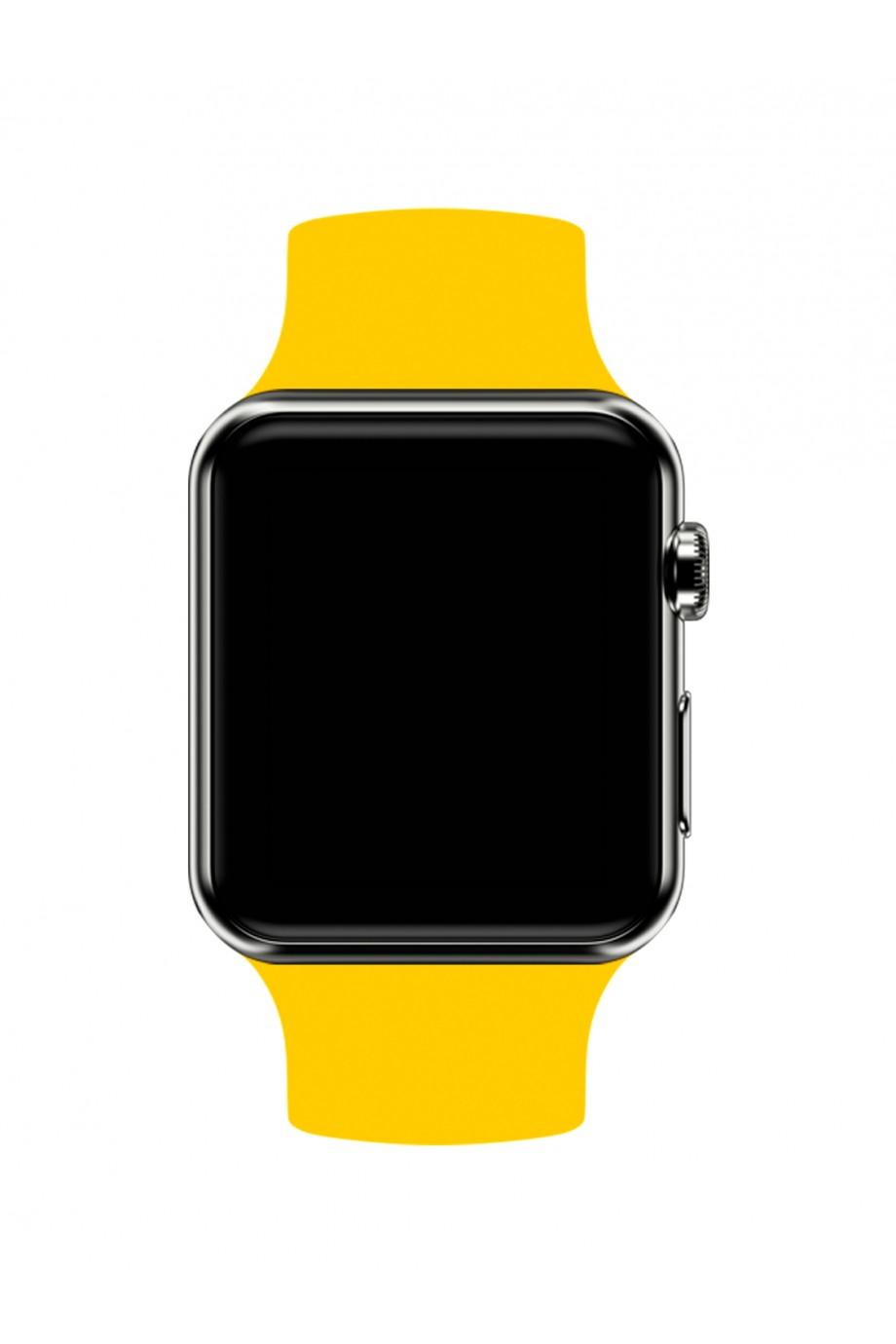 Силиконовый ремешок для Apple Watch 4/5 40 мм, желтый