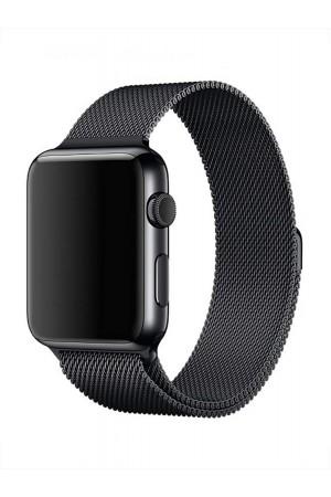 Металлический ремешок для Apple Watch 3 38 мм, черный