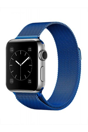 Металлический ремешок для Apple Watch 3 38 мм, синий