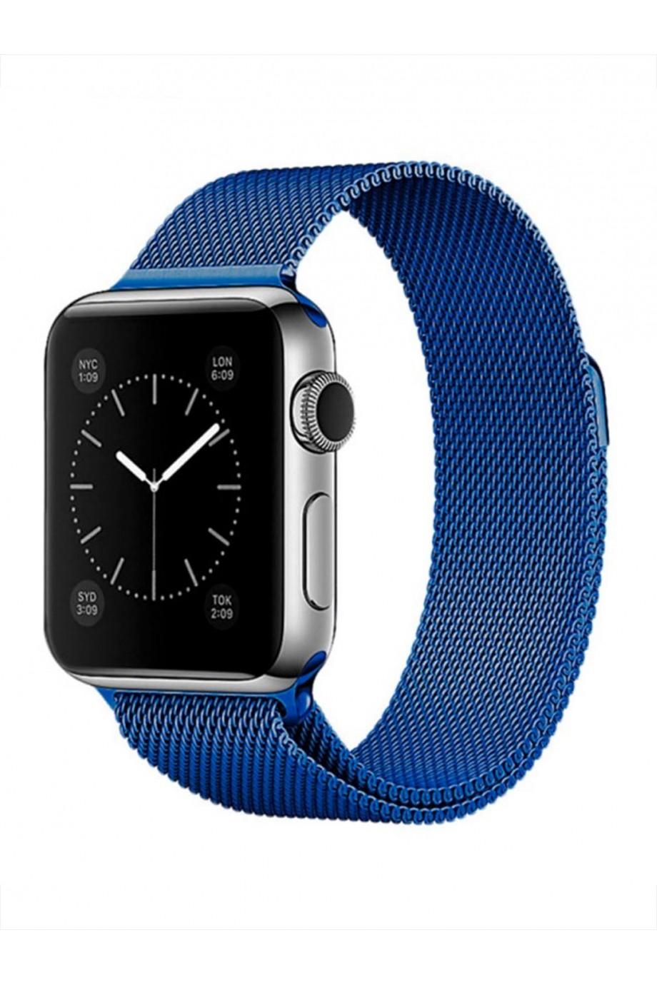 Металлический ремешок для Apple Watch 3 42 мм, синий