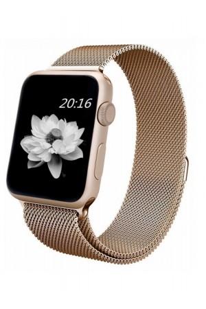 Металлический ремешок для Apple Watch 3 38 мм, бронзовый