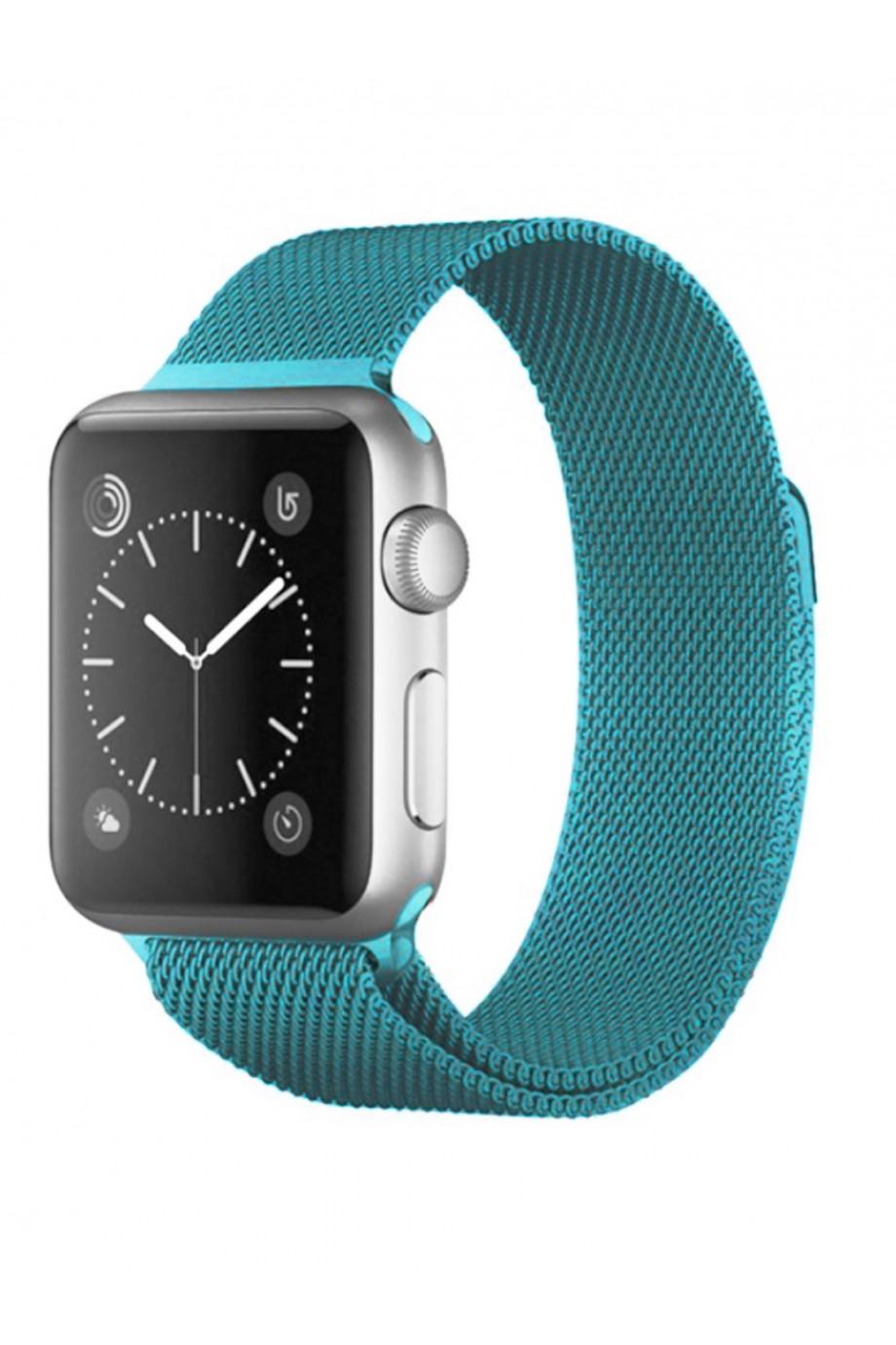 Металлический ремешок для Apple Watch 4/5 44 мм, зелено-голобой