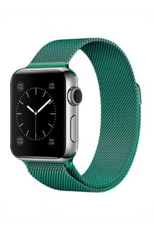 Металлический ремешок для Apple Watch 3 38 мм, зеленый изумруд
