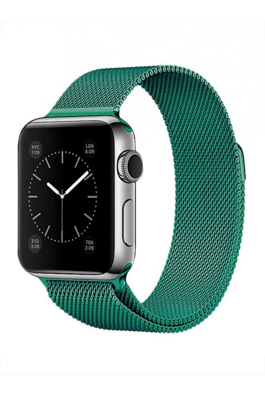 Металлический ремешок для Apple Watch 3 42 мм, зеленый изумруд