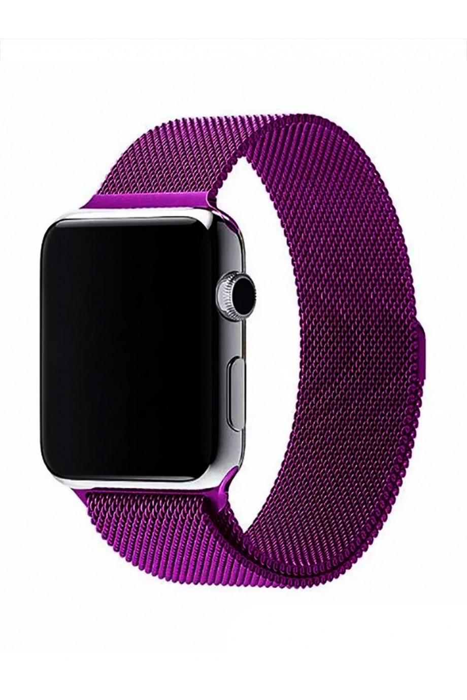 Металлический ремешок для Apple Watch 3 38 мм, фиолетовый