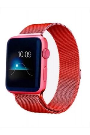 Металлический ремешок для Apple Watch 4/5 44 мм, красный