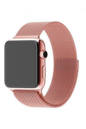Металлический ремешок для Apple Watch 4/5 44 мм, розовое золото