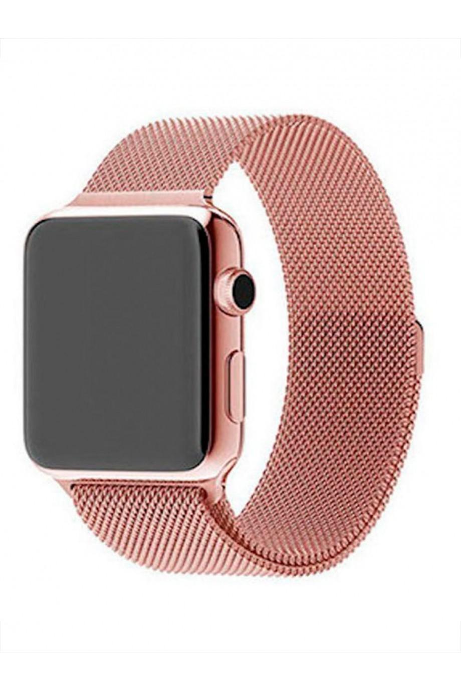 Металлический ремешок для Apple Watch 4/5 40 мм, розовое золото