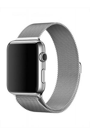 Металлический ремешок для Apple Watch 3 38 мм, серебрянный