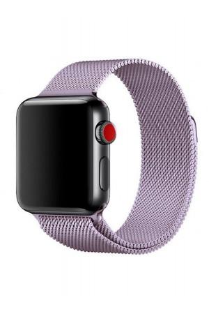 Металлический ремешок для Apple Watch 3 38 мм, сиреневый