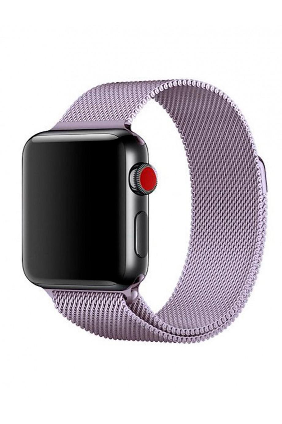 Металлический ремешок для Apple Watch 3 42 мм, сиреневый