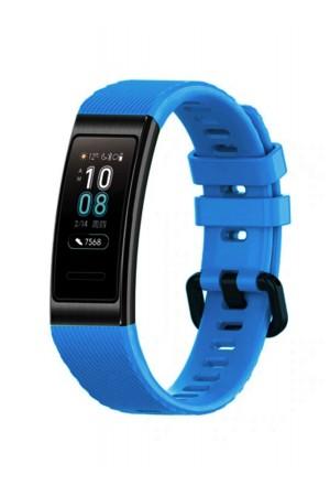 Силиконовый ремешок для Huawei Band 3 Pro, голубой