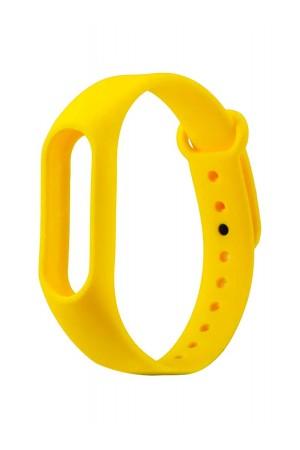 Силиконовый ремешок для Xiaomi Mi Band 2, желтый