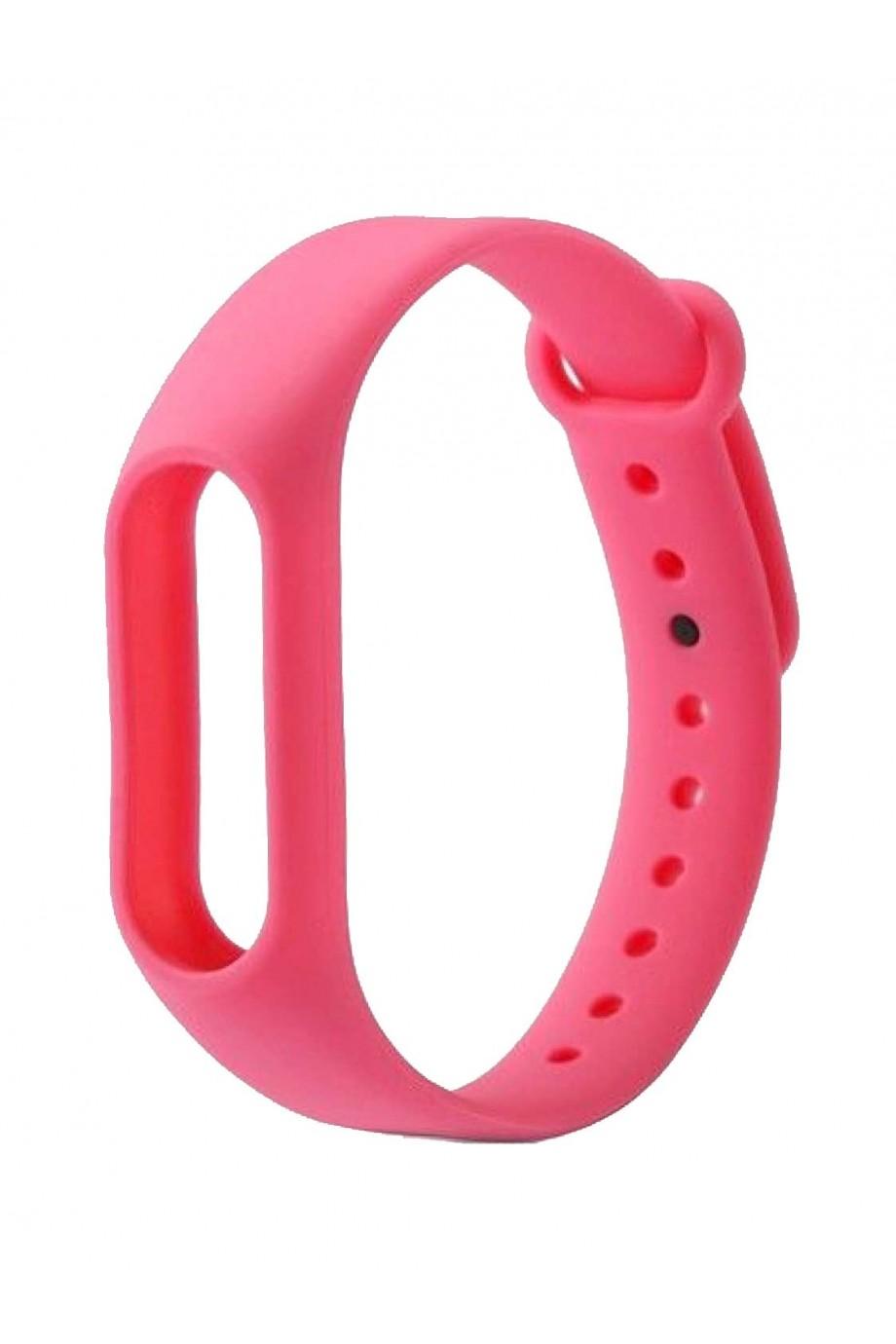 Силиконовый ремешок для Xiaomi Mi Band 2, розовый