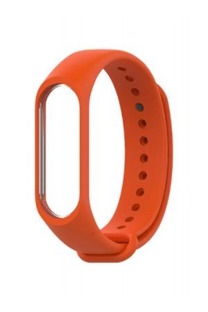Силиконовый ремешок для Xiaomi Mi Band 3, оранжевый