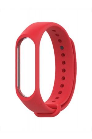 Силиконовый ремешок для Xiaomi Mi Band 3, красный