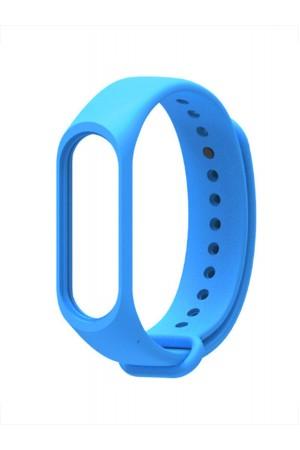 Силиконовый ремешок для Xiaomi Mi Band 4, голубой