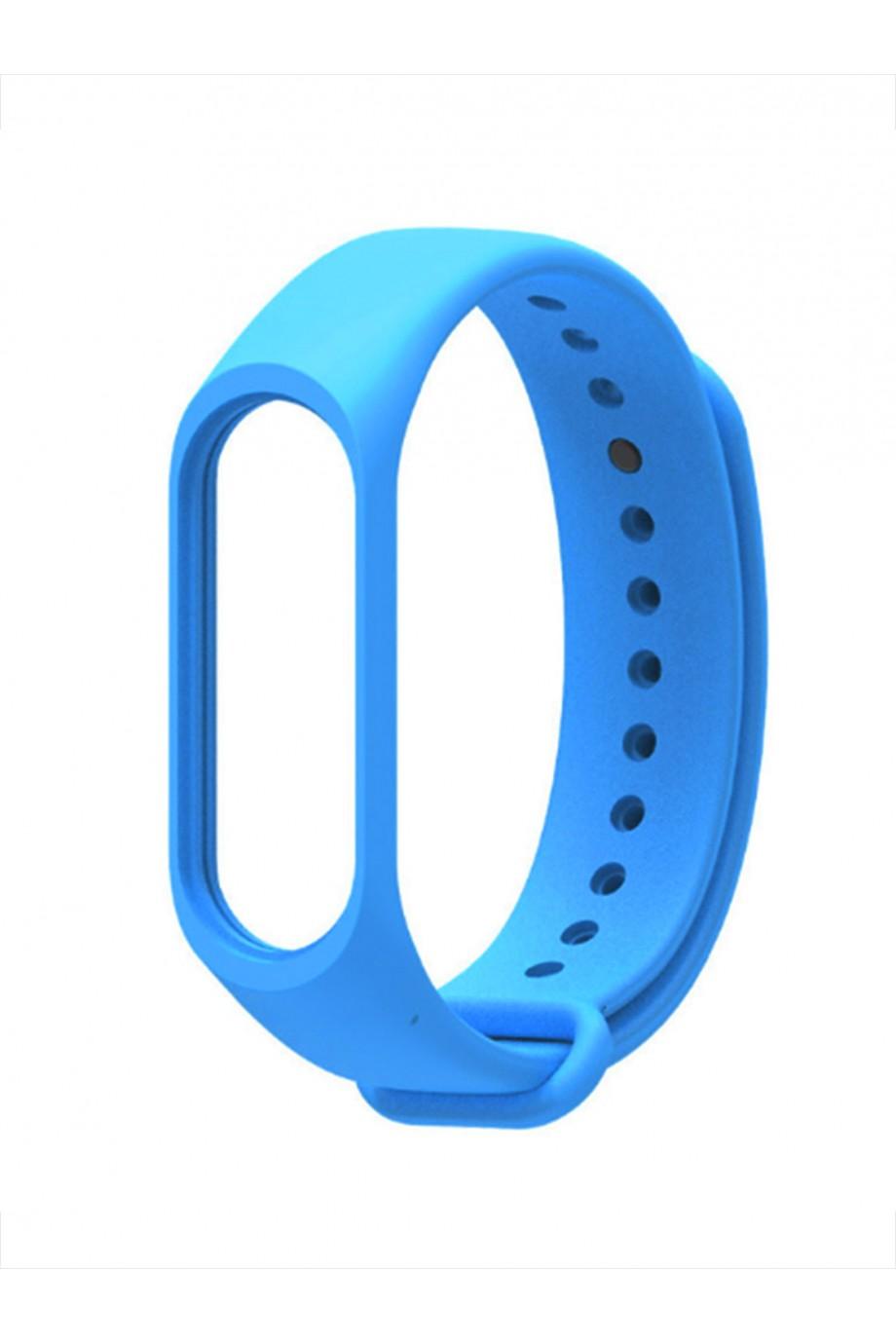 Силиконовый ремешок для Xiaomi Mi Band 3, голубой