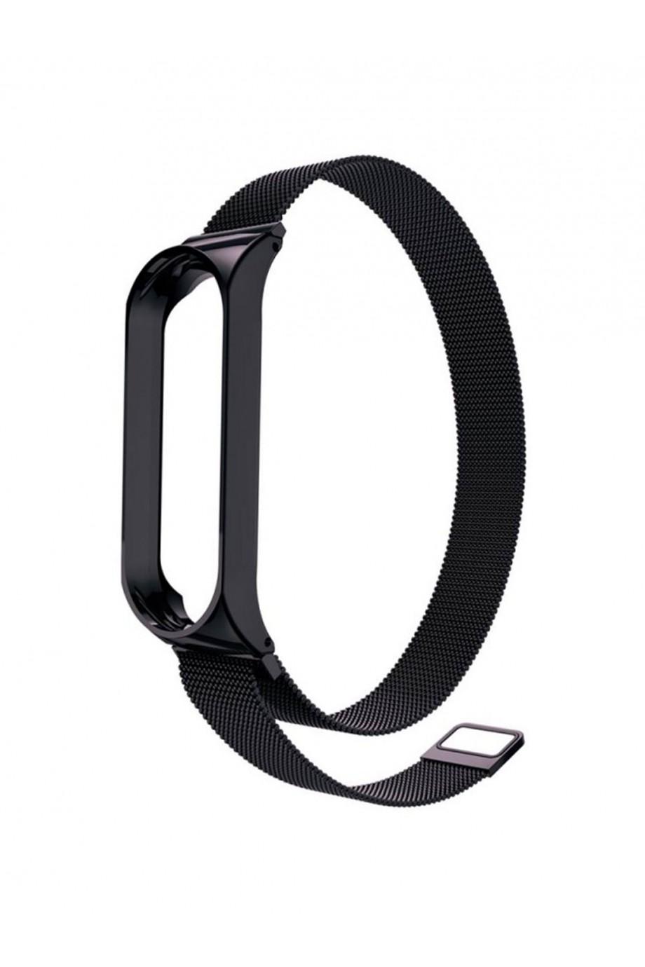 Металлический ремешок для Xiaomi Mi Band 3, черный