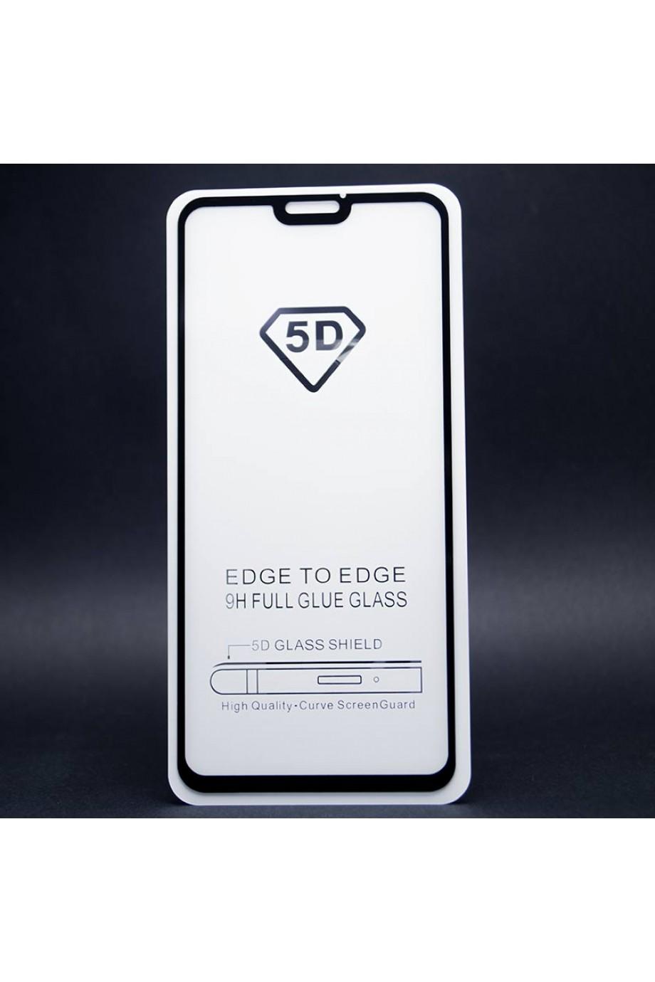 Защитное стекло 5D Mikomo для Honor 8X, черная рамка, полный клей
