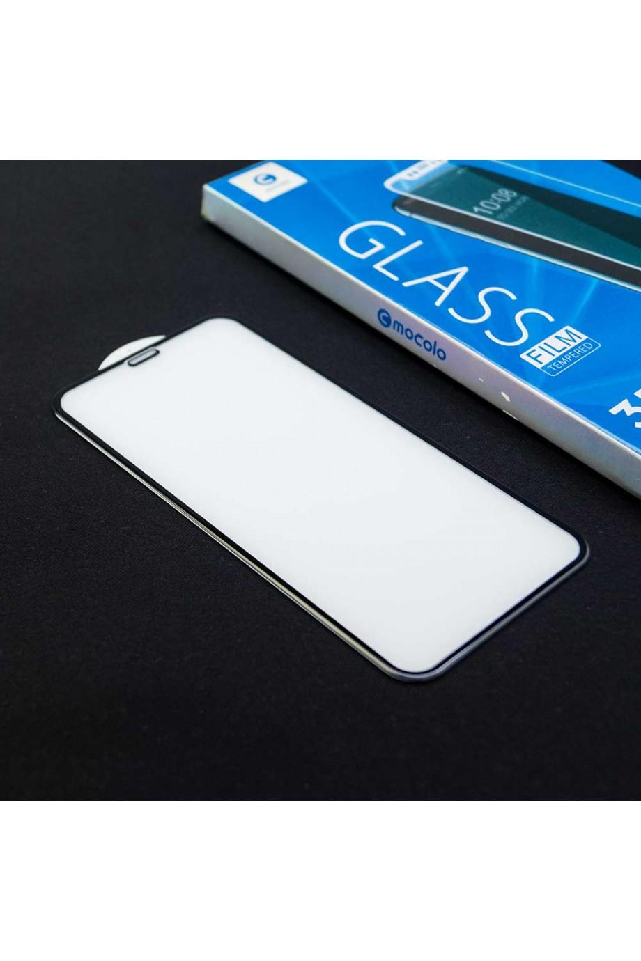 Защитное стекло 3D Mocolo для iPhone XS, черная рамка, полный клей