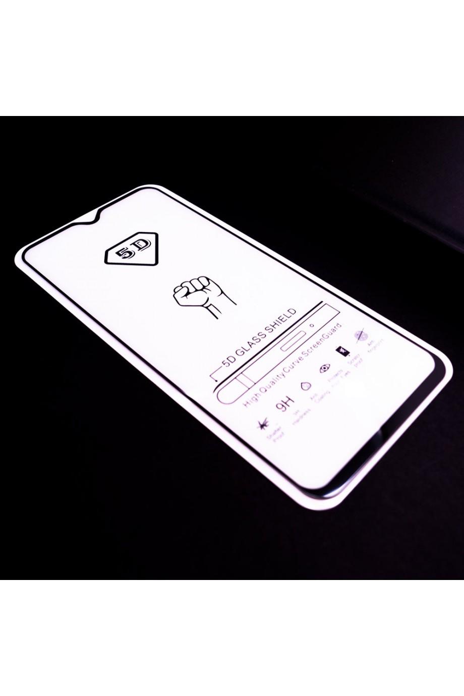 Защитное стекло 5D Mikomo для Samsung Galaxy A50, черная рамка, полный клей