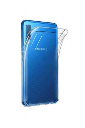Чехол силиконовый для Samsung Galaxy A50, прозрачный