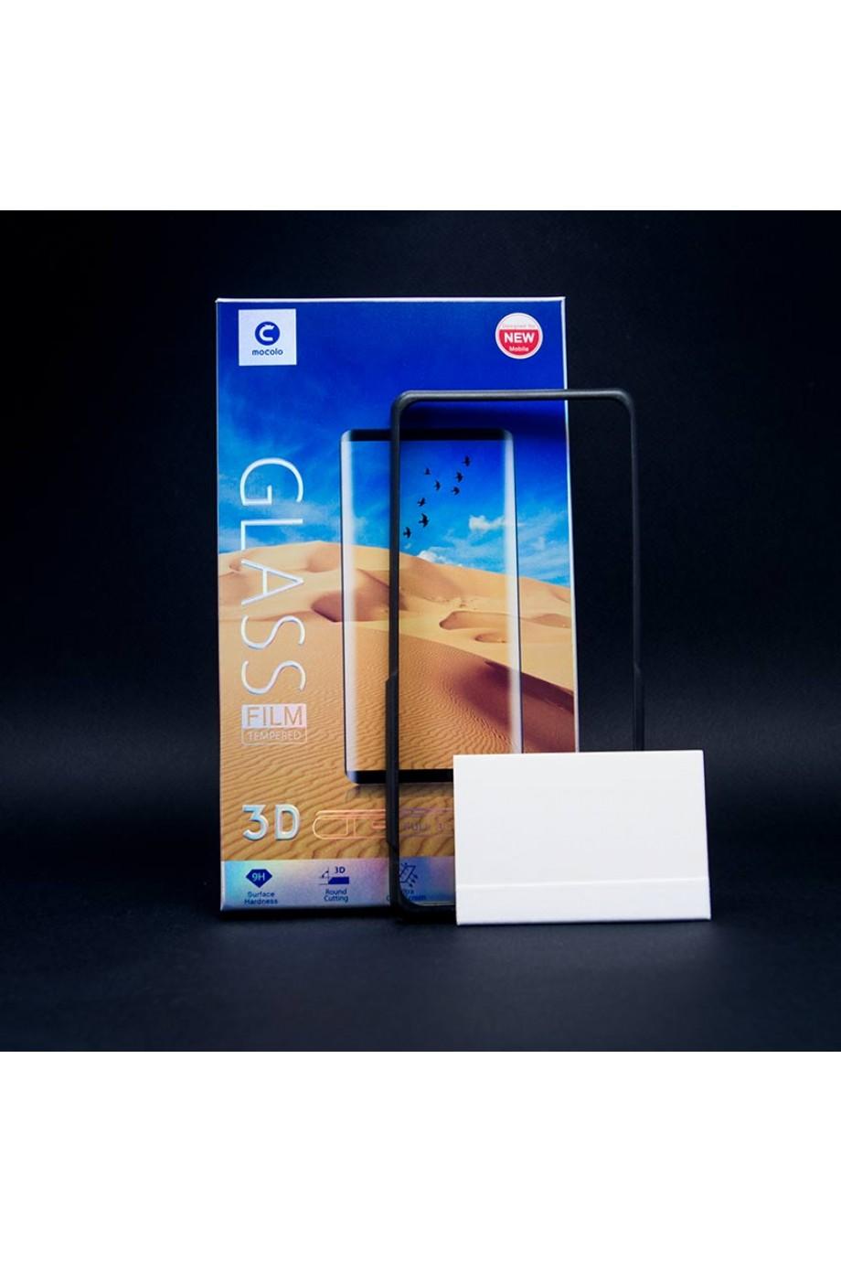 Защитное стекло 3D Mocolo для Samsung Galaxy S8, черная рамка, полный клей