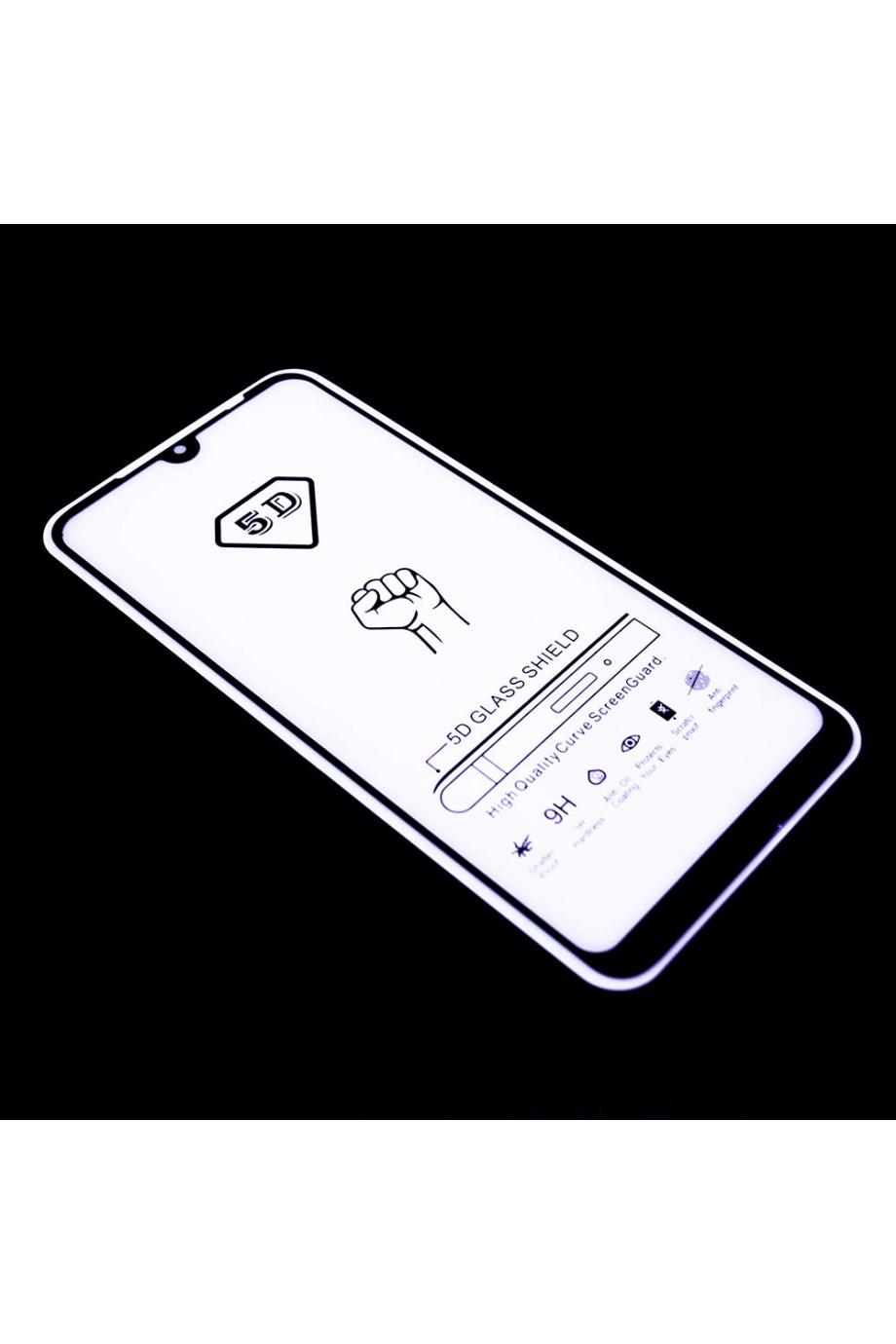 Защитное стекло 5D Mikomo для Xiaomi Redmi 7, черная рамка, полный клей