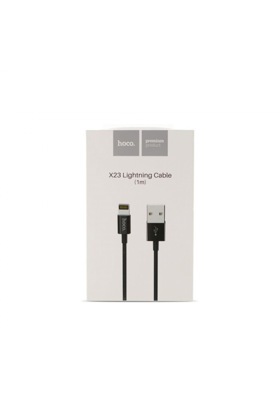 Кабель HOCO X23 USB – Lightning 8 pin, черный, 1 м