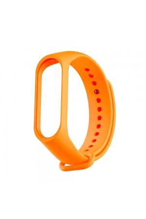 Силиконовый ремешок для Xiaomi Mi Band 3, ребристый, оранжевый