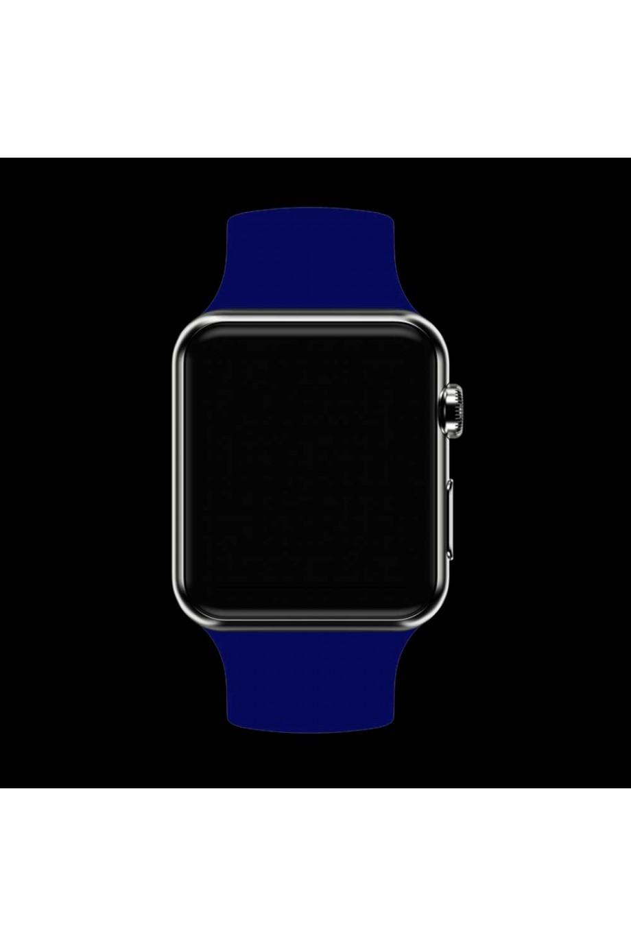 Силиконовый ремешок для Apple Watch 4/5 44 мм, синий