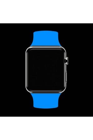 Силиконовый ремешок для Apple Watch 4/5 44 мм, голубой