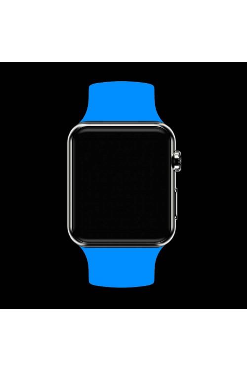 Силиконовый ремешок для Apple Watch 3 42 мм, голубой