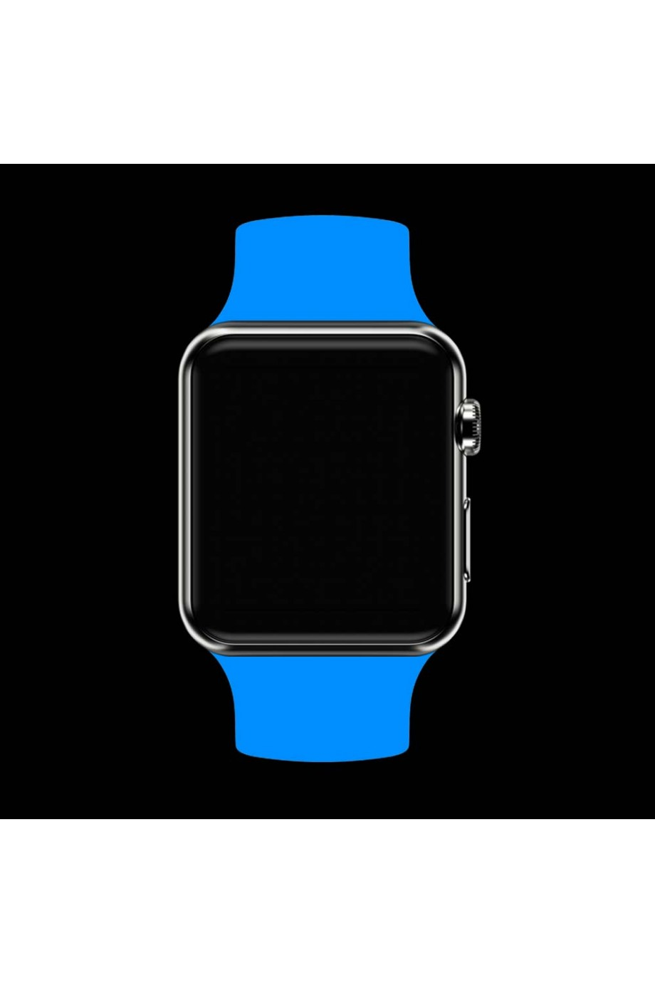 Силиконовый ремешок для Apple Watch 4/5 40 мм, голубой