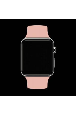 Силиконовый ремешок для Apple Watch 3 42 мм, бежевый