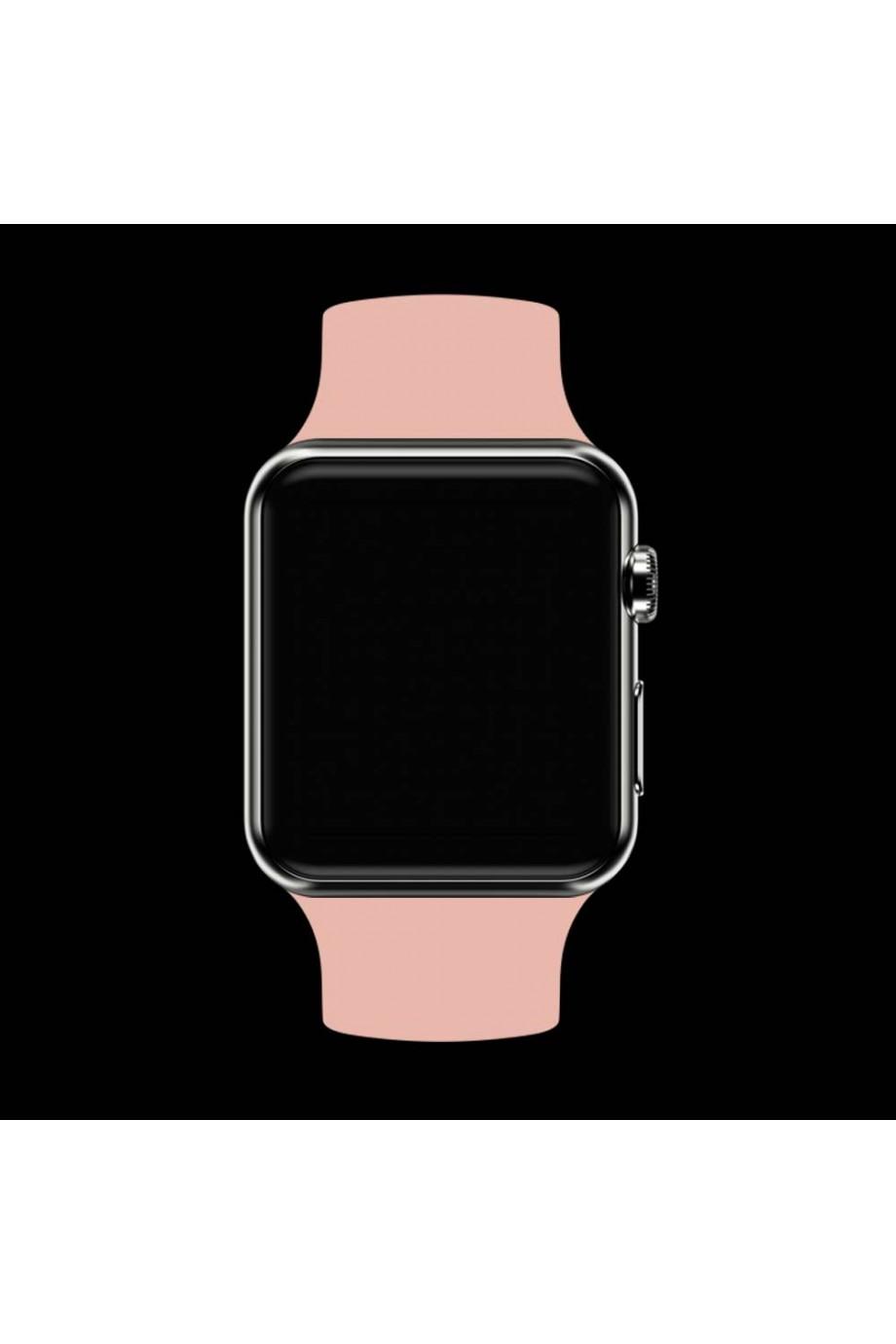 Силиконовый ремешок для Apple Watch 4/5 40 мм, бежевый