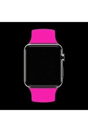 Силиконовый ремешок для Apple Watch 4/5 40 мм, ярко розовый