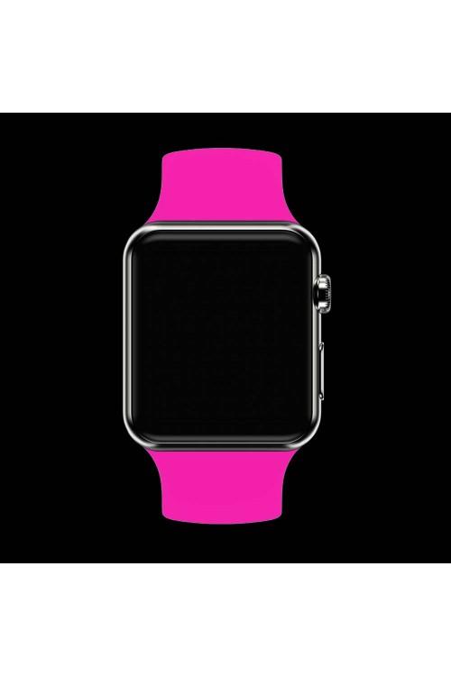 Силиконовый ремешок для Apple Watch 3 42 мм, ярко розовый