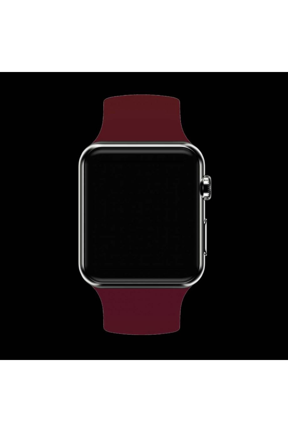 Силиконовый ремешок для Apple Watch 4/5 40 мм, вишневый